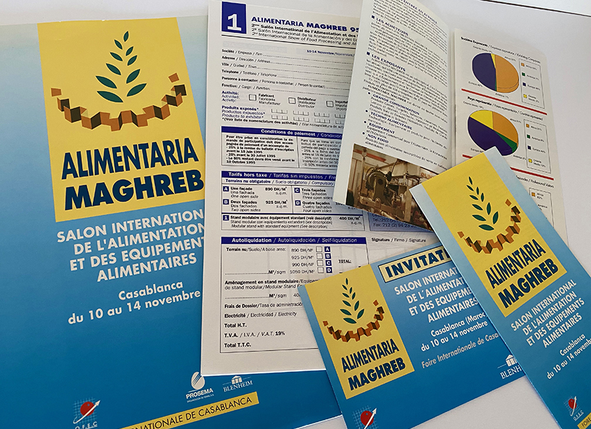 Disseny gràfic: Documentació, invitacions, inscripció i díptic per Alimentaria Maghreb